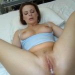 Creampie in the mother´s pussy