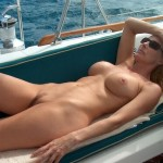 Sunbathing mommy