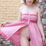 Dress without panties