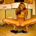 Sis in a motel bathroom